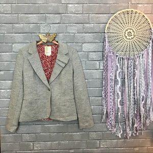 elevenses // light gray wool blend blazer jacket 2